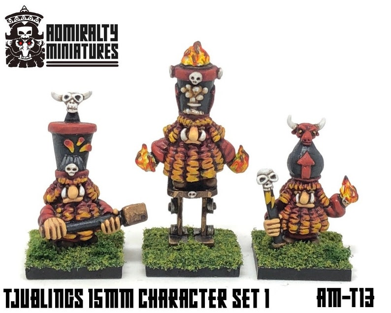 3 Tjubling Characters 15mm Fantasy Wargaming Admiralty Miniatures Sculpted  by Tjub Chaos Abyssal Infernal Dwarfs Dwarves Prophet Sorcerer AM