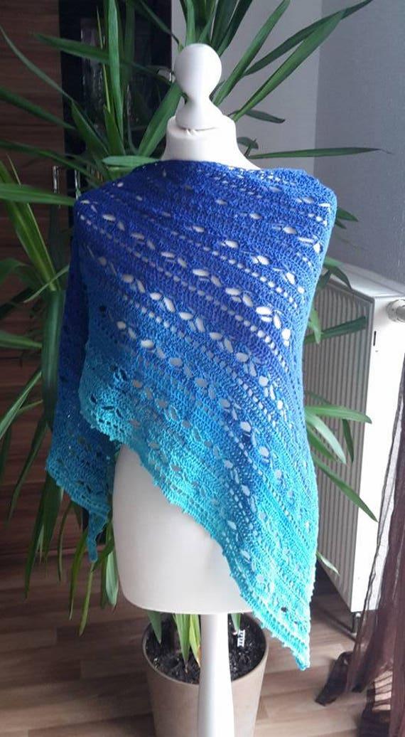 Bruinen Tuch Zauber Der Meere Farbverlauf Blau Etsy