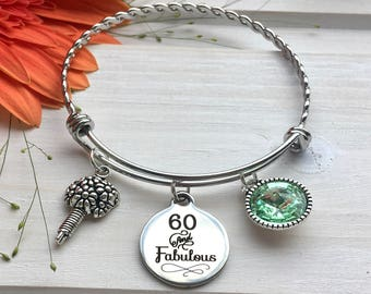 60th Birthday Gift For Mom Gifts Women Bracelet 60 Year Old Woman Fabulous Party Ideas
