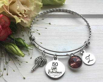 50th Birthday Gift For Women Mom Sister Gifts Her 50 And Fabulous