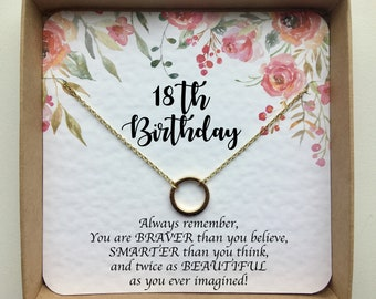 18th Birthday Gifts For Girls Gift Sister Gold Necklace Her Daughter Best Friends