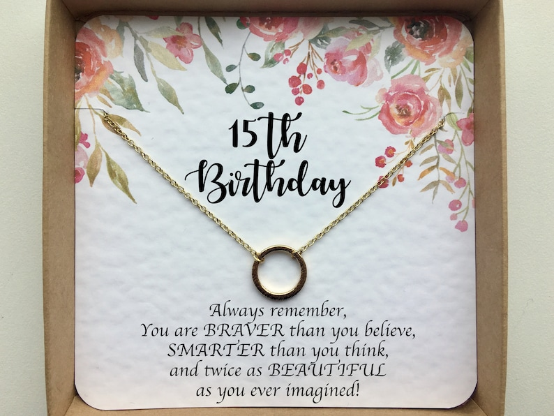 15th Birthday Gifts For Her Girl Necklace Gift Daughter Niece Granddaughter From Mom Aunt Grandma