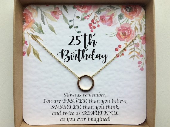 25th Birthday Gifts For Her Gift Best Friend Sister
