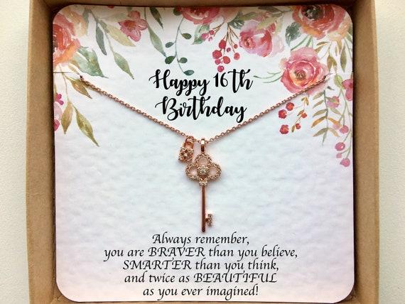 16 Geburtstag Geschenk Mädchen Süß 16 Geburtstag Geschenk Sweet 16 Halskette 16 Geburtstag Mädchen Geschenk Ideen Geschenk Für Tochter Nichte