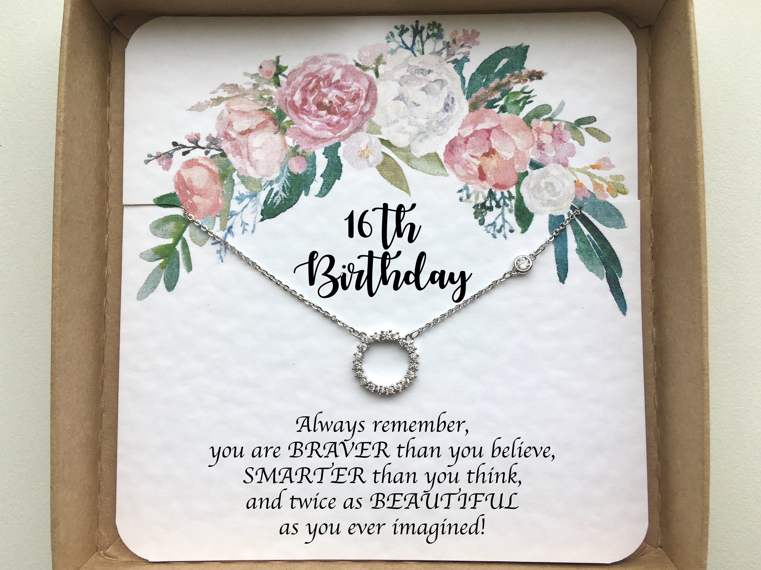16th birthday gift girl Sweet 16 gift Sweet 16 necklace ...