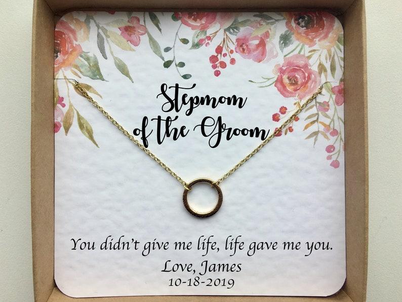 Stepmom of Groom gift Stepmom Necklace Stepmom Wedding Gift Stepmother Wedding gift Stepmom Jewelry set. Stepmother of the Groom gift