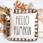 Hello Pumpkin - Rae Dunn Pillow - Throw Pillow - Fall Pillow - Fall Decor - Fall Pillow Decor