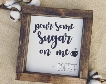 Coffee Sign - Wood sign - Home decor