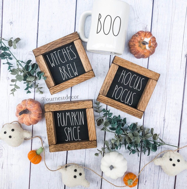 Rae Dunn Halloween  Halloween Decor  Rae Dunn Signs  Tiered image 0