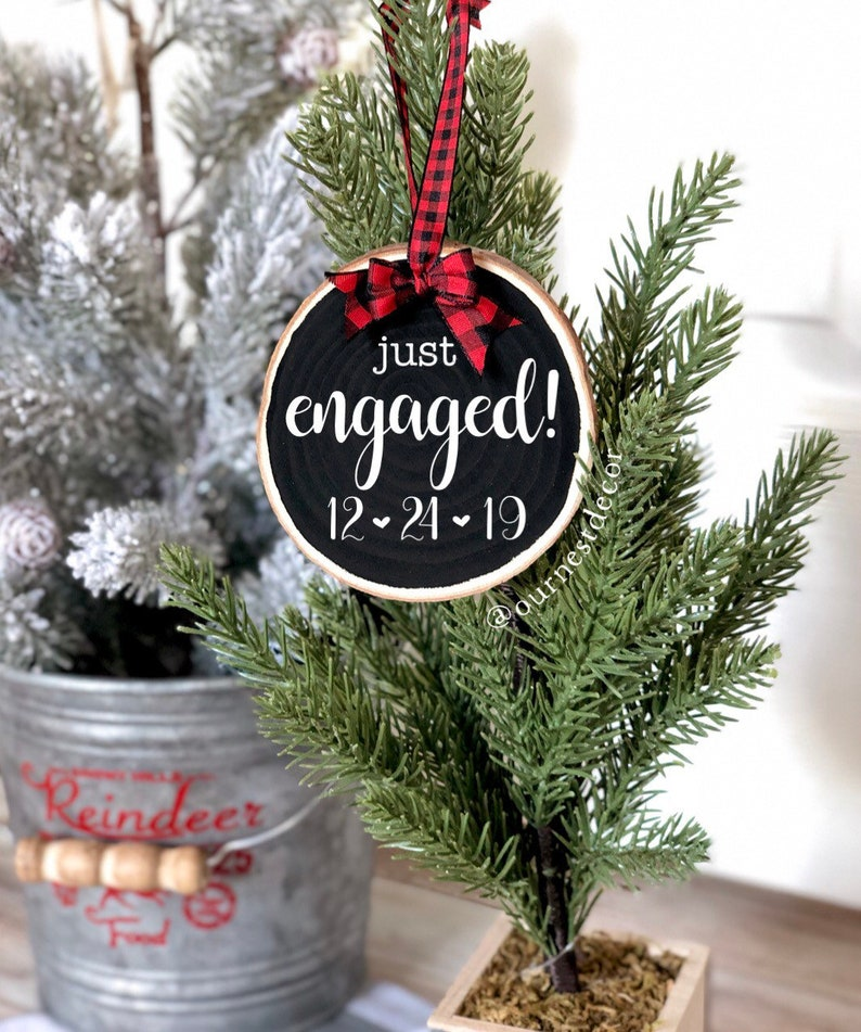 First Christmas Ornament  Just Engaged  First Engaged image 0