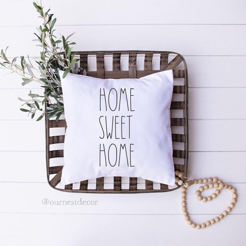 Rae Dunn Pillow  Home Sweet Home  Housewarming Gifts  Rae image 0