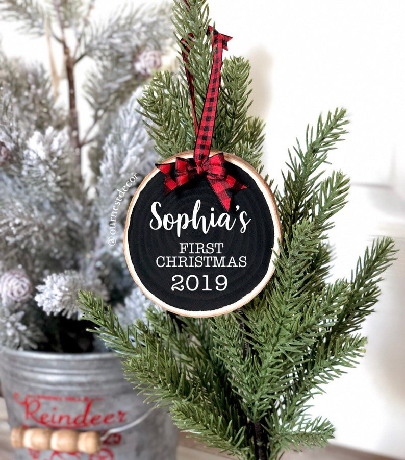 Baby's First Christmas  Baby Ornament  Personalized image 0