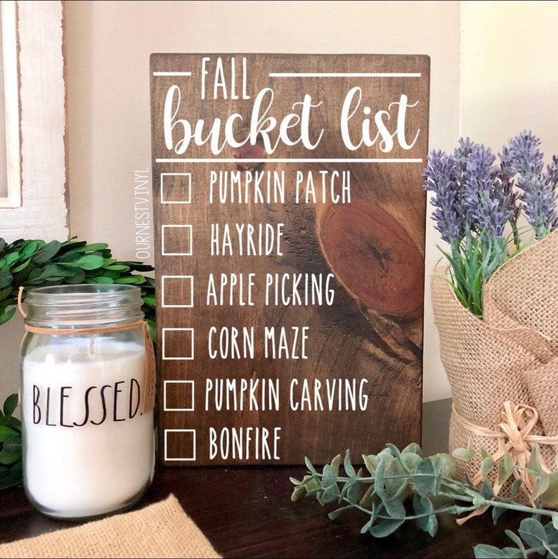 Fall Signs  Fall Decor  Bucket List  Autumn  Fall  Wood image 0