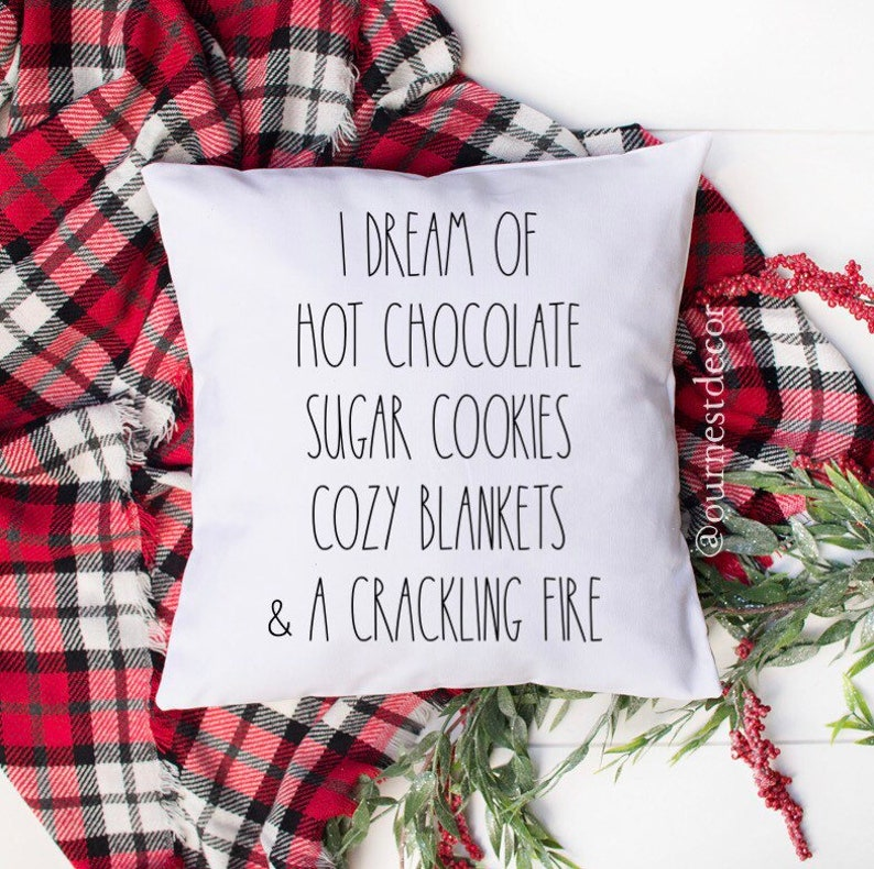 Rae Dunn Pillow  Holiday Pillow Cover  White Pillow cover  image 0
