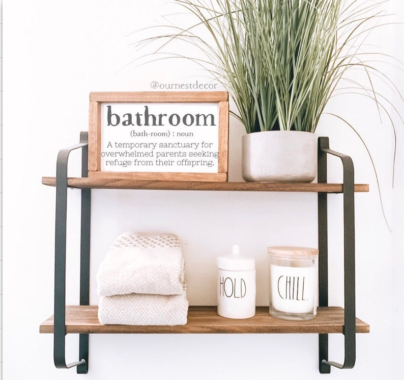 Bathroom Sign  Get Naked  Funny Bathroom Signs  Half Bath image 0