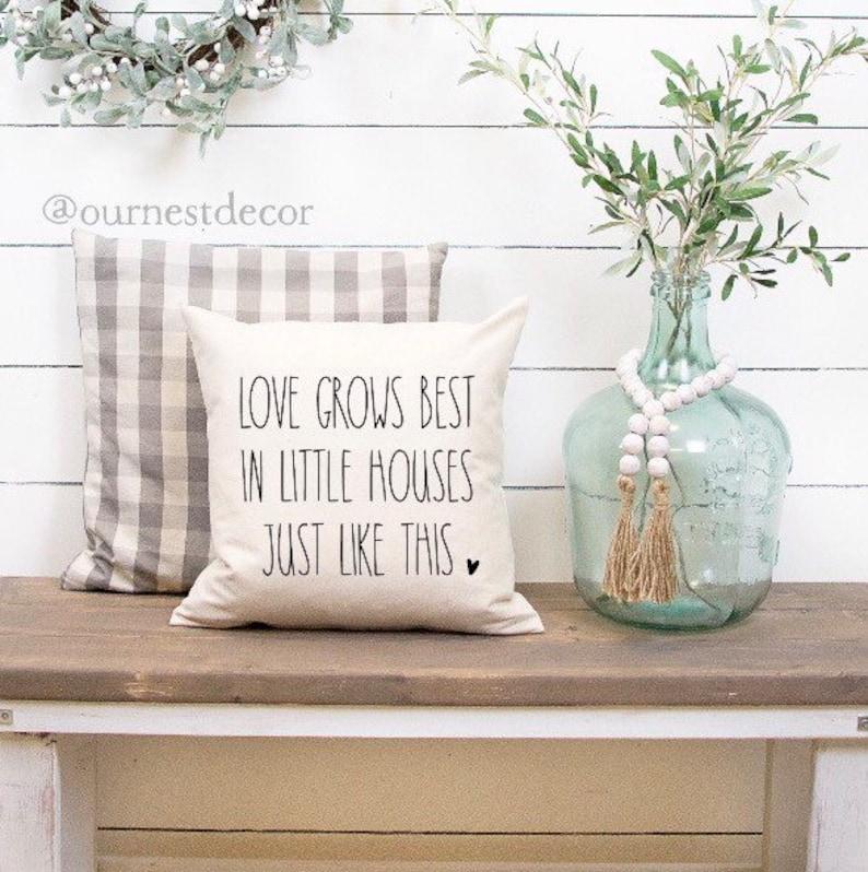 Love Grows Best In Little Houses  Rae Dunn Decor  Rae Dunn image 0