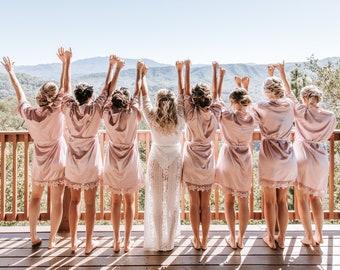 Satin Bridal Robe Silky Bridesmaid Robes /Wedding Bridesmaid Gift /Bridal Party Robes