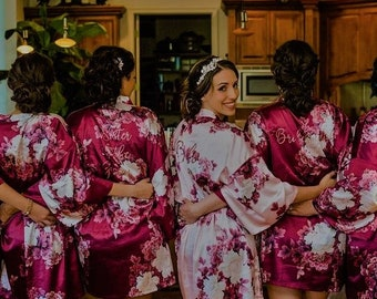 Burgundy Bridesmaid Robe  Bridal robe  Wedding robe  Personalized Robes  Bridesmaid  Gift  Bridal Party Robes Bride Robe Bridesmaid Proposal 2bcbc6c39