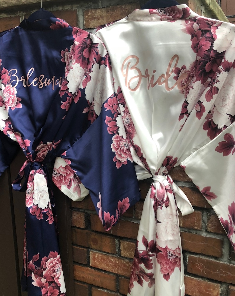 13676958584 Sale Silk Bridesmaid Robes Bridesmaid Gifts Floral Robe