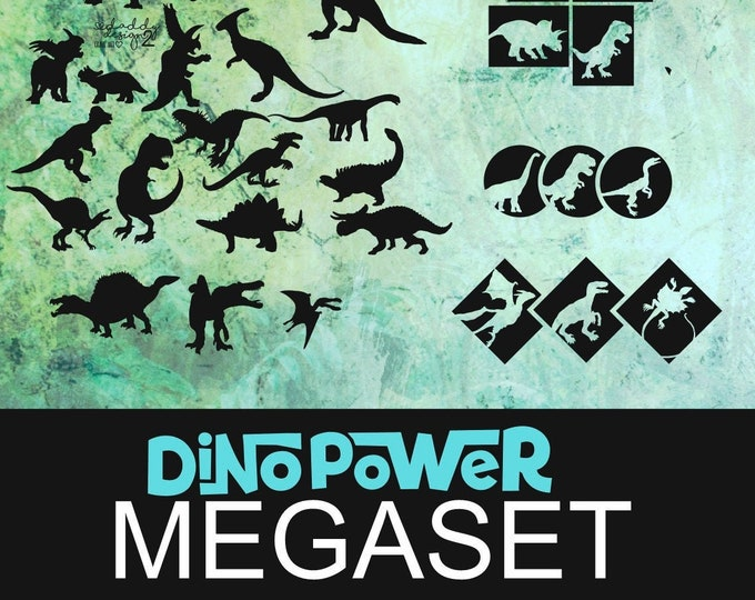 MEGA SET Dino Shadows 2 & 3 and Dino Geo in one package
