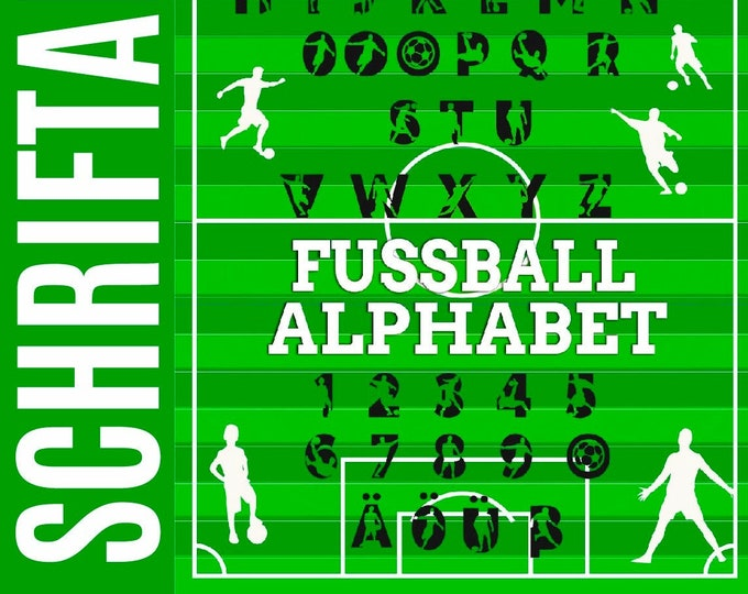 FOOTBALL ABC as font AND as svg, dxf plotfile