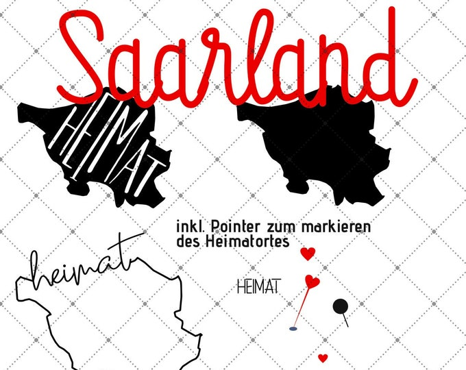 HEIMAT - SAARLAND - 3 Motives Federal States Saarland