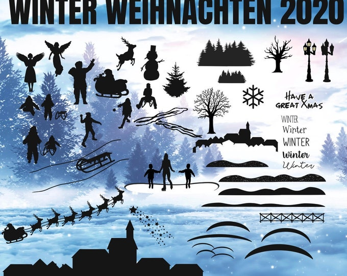 WINTER CHRISTMAS 2020 set, from tea light to wall tattoo everything in one package
