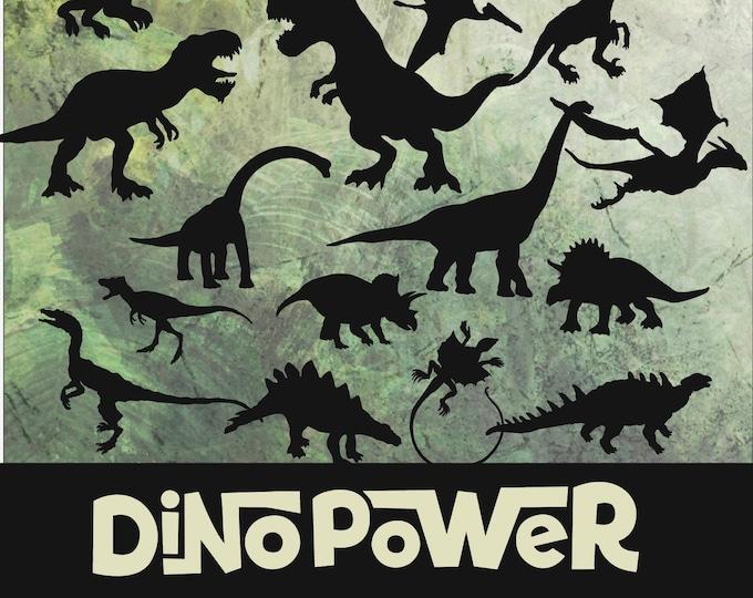 DINO POWER Dinosaur Silhouettes