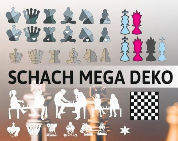 SCHACH MEGA DEKO, as svg, dxf plot file plot file and png to print