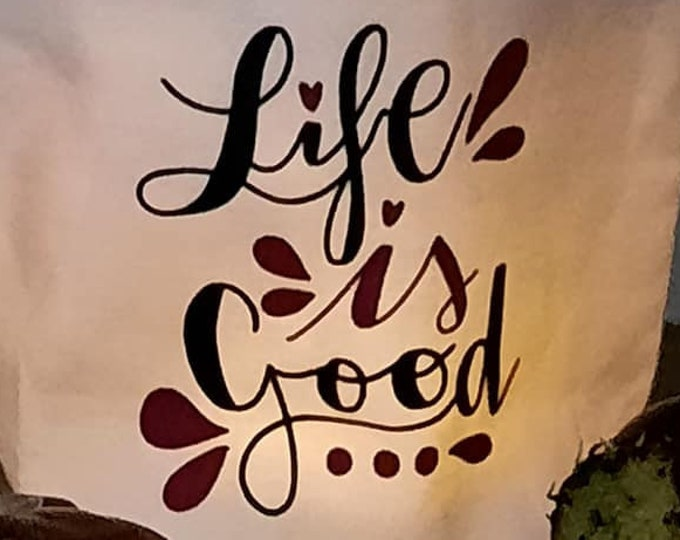 LIVE IS GOOD - Decoration and Plotting Motif