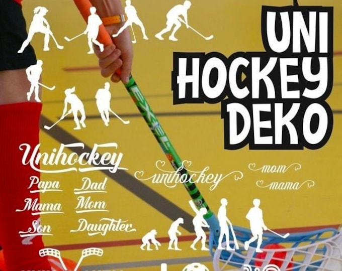 Shadow Sport-UNIHOCKEY Mega Deco matching the lettering, as SVG DXF plot file plotter file and png to print