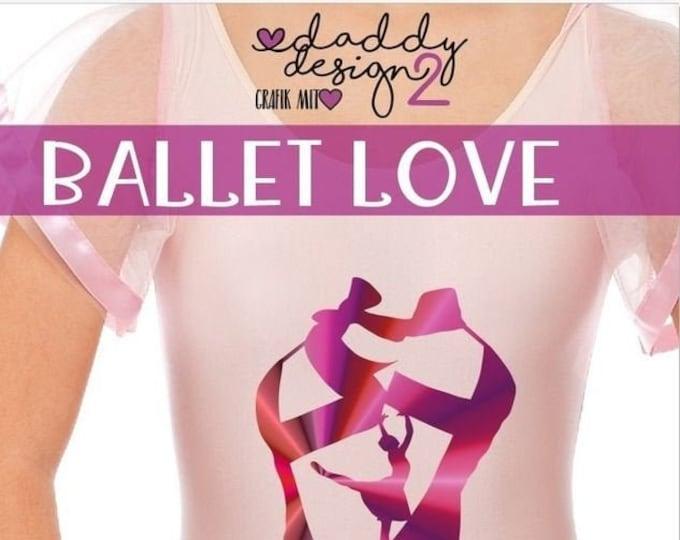 Ballet Love - Ballet Shoe With Ballerina - Shadow Motif