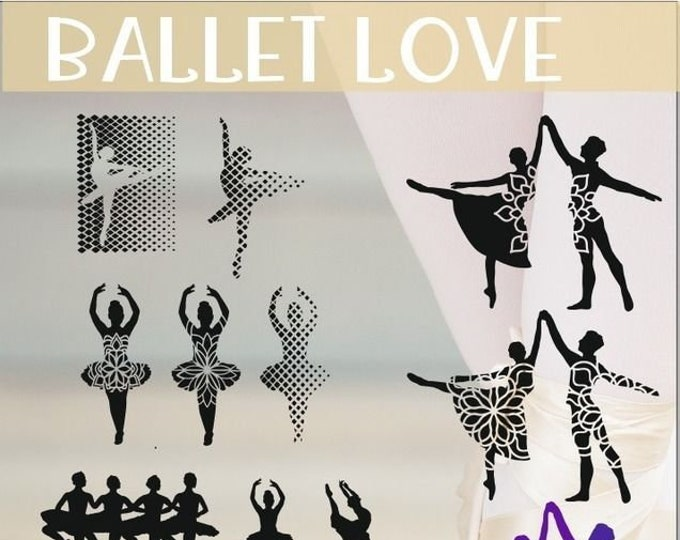 Ballet - Embroidery File - Mega Decoration Shadow Motifs