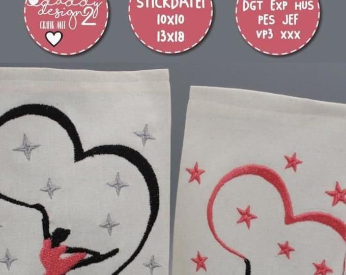 Ballet - Embroidery file - 2 ballerina motifs - 10x10 13x18