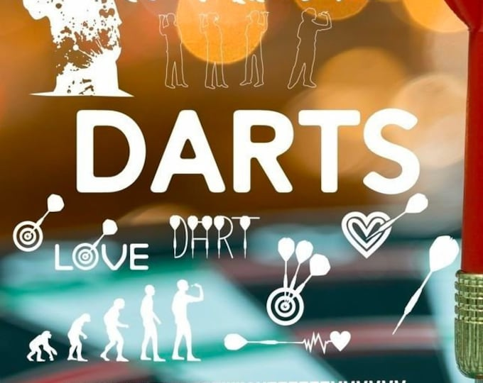 Shadow Sport-DARTS Mega Deco matching the lettering as SVG DXF plot file and png for printing