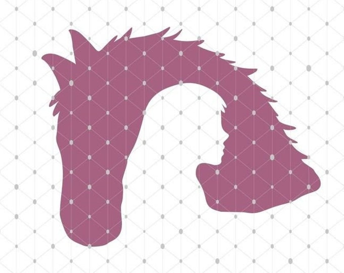 Horse Love - Riding Horse - Shadow PLOTT - Love Shadows as SVG DXF Plott File Plotter File and png to print