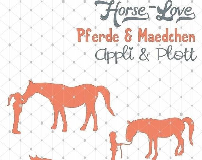 Horse Love Riding Horse 4 PLOTT Motifs Girls