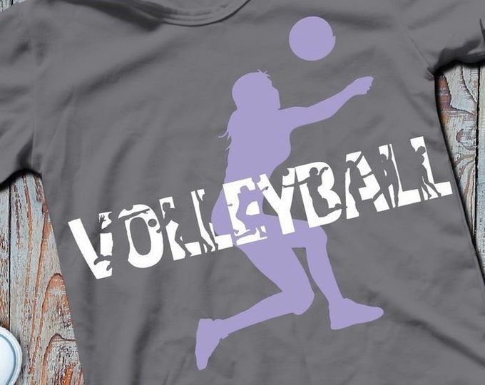 Shadow Sport-VOLLEYBALL-Combined file as SVG DXF plot file and png to print