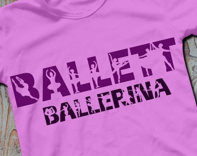 Shadow Sport-BALLETT/Ballerina-Combined file as SVG DXF plot file and png to print