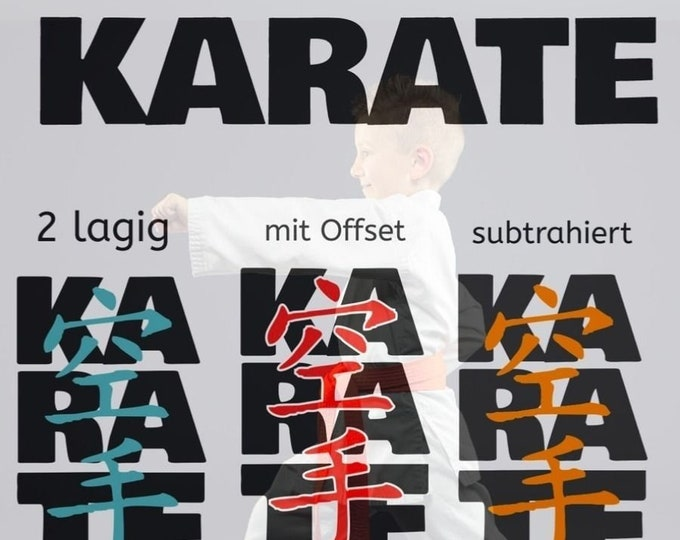 KARATE double font