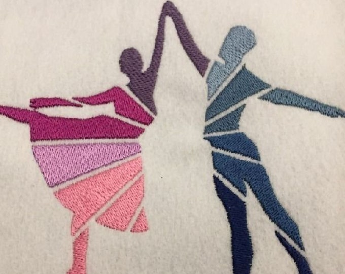 Ballet - Embroidery File - Dancing - 10x10 18x13
