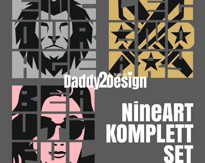 NineART - KOMPLETTSET Beautiful Legendary and Encourage