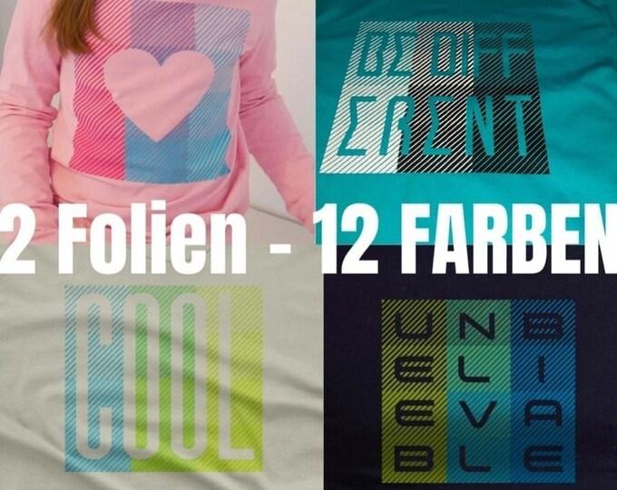 12 FARBEN - SET Wörter Sprüche Symbole Buchstaben  - inklusive Template