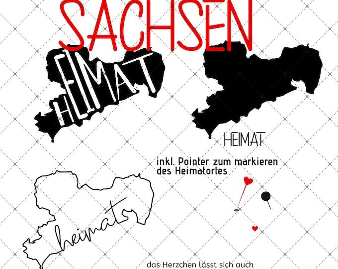 HEIMAT - SACHSEN - 3 motives Federal states