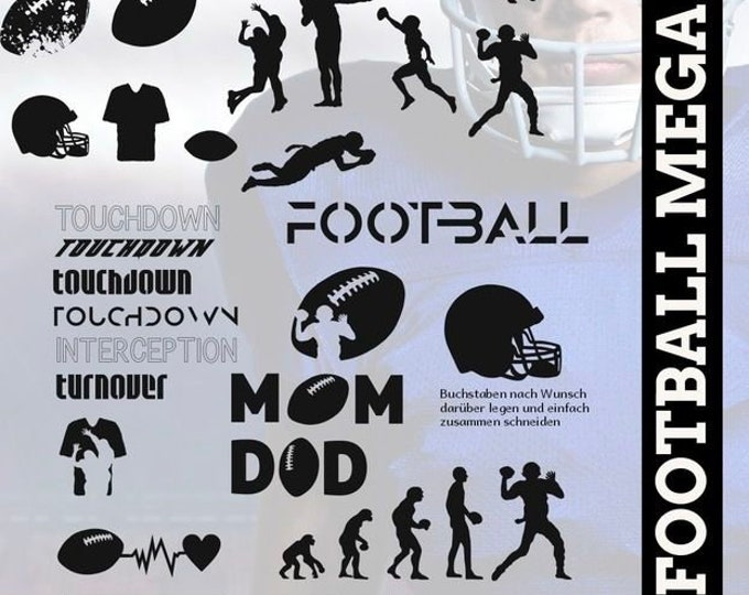 Shadow Sport-Football Mega Deco, Quaterback as SVG DXF plot file plot file and png to print