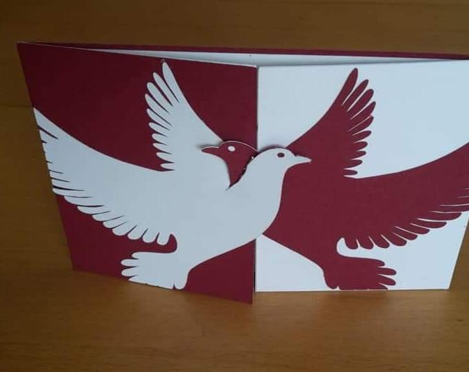 Card Pigeon Love by GlücksKnopf