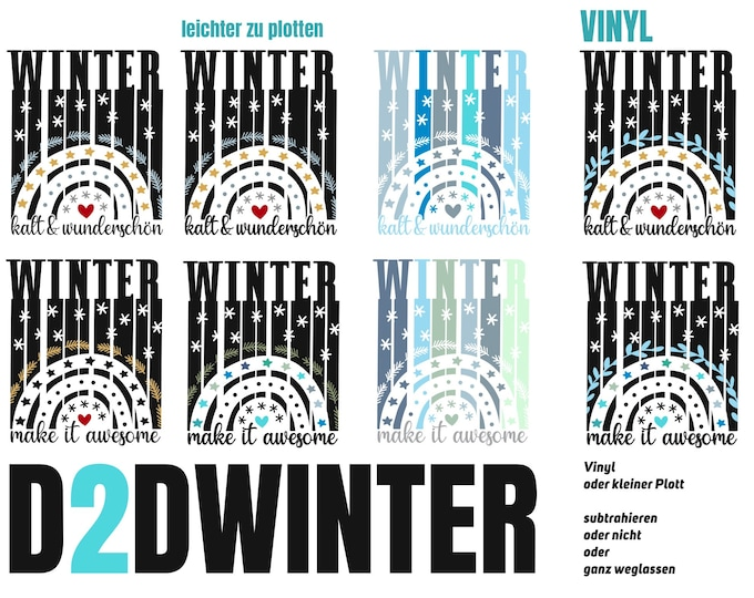 WINTER 8 Variations German English less details and vinyl