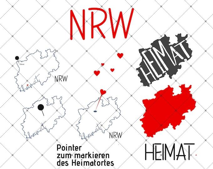 HEIMAT - NRW - 3 motifs - North Rhine-Westphalia