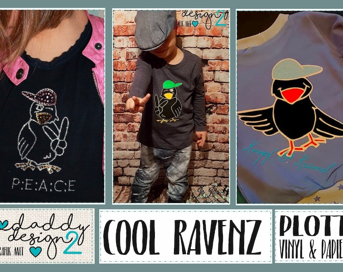 COOL RAVENZZ - the cool ravens in trendy fun poses