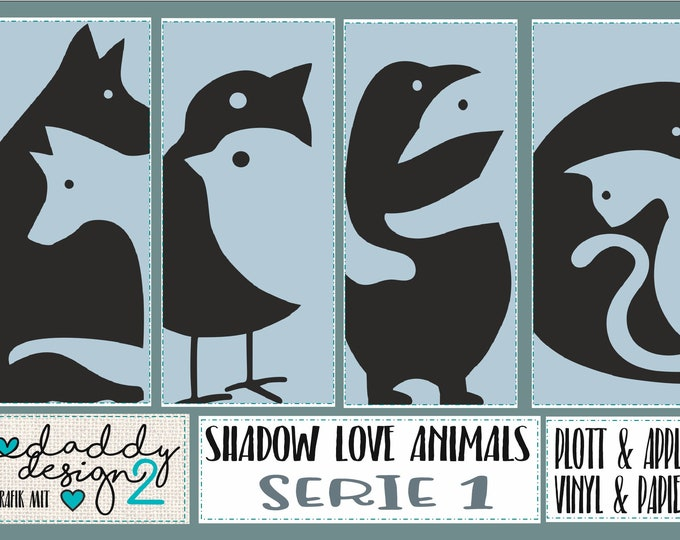 SHADOW LOVE ANIMALS 1 Dog Wolf Birds Penguins Cats